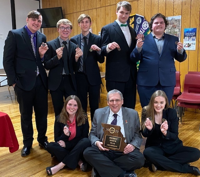 PHS Speech Team Wins District Tournament