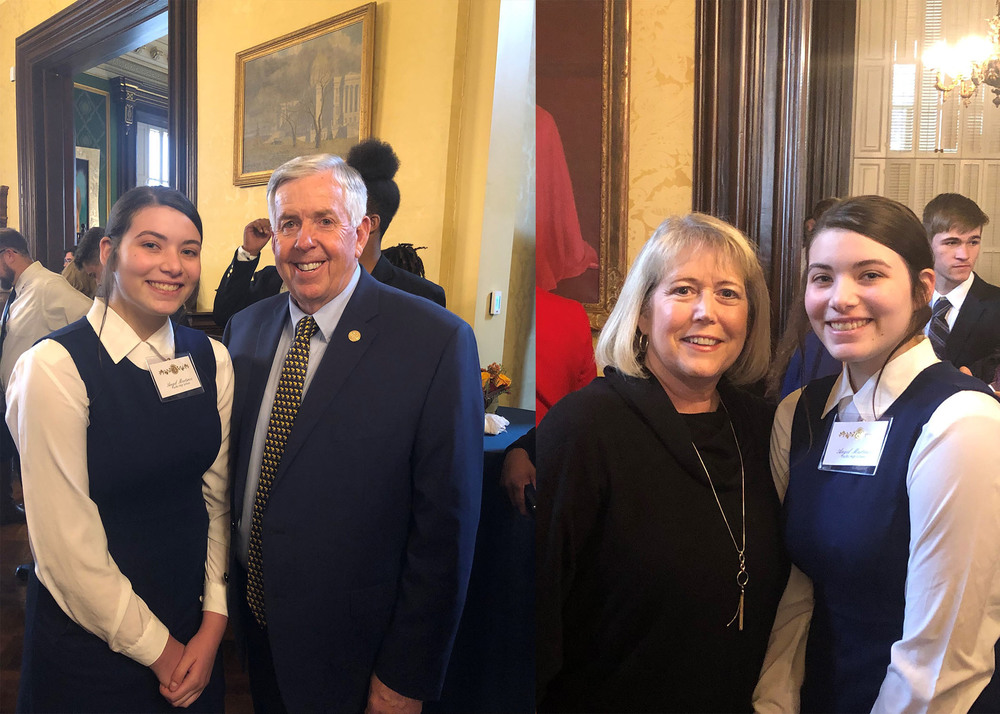 PHS Student Visits the Governor's Mansion
