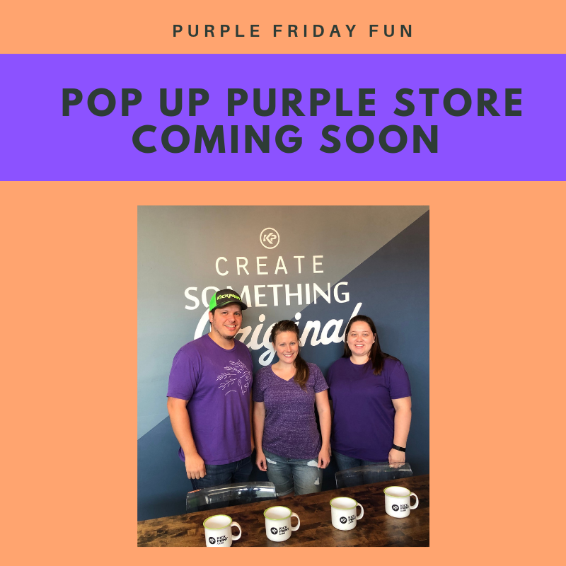 POP UP PURPLE STORE