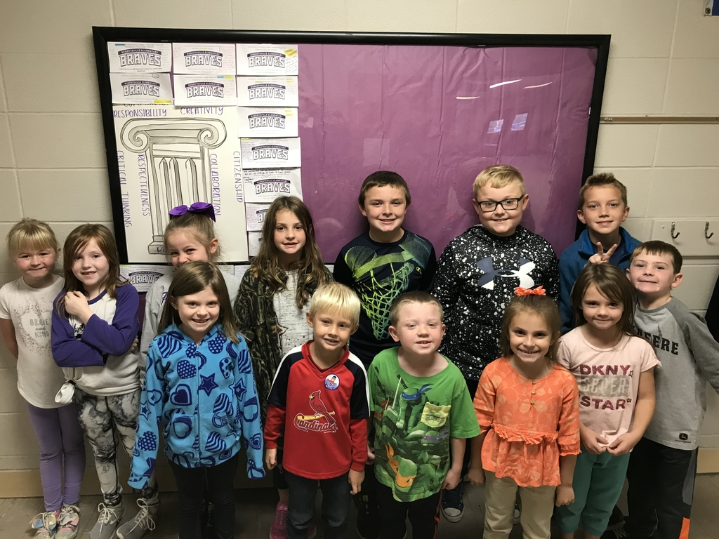 These Robertsville students were recognized for displaying one of the MVR3 8 pillars. When the board fills up the school will have a celebration. #braveminds