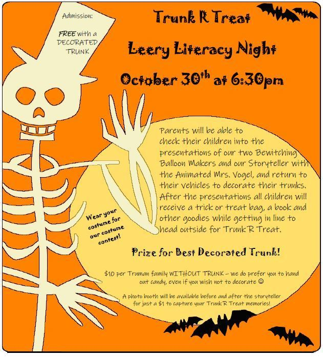Trunk R Treat Flyer