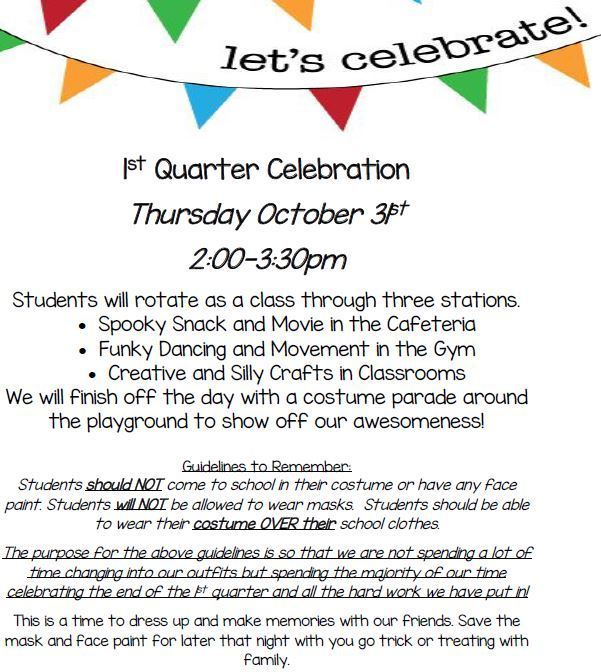 1st Quarter Celebration Flyer