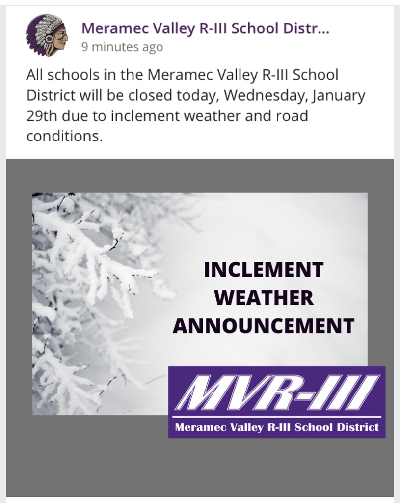 Schools closed due to inclement weather