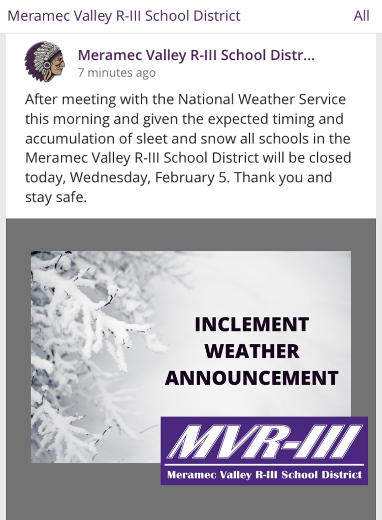 All schools, including SACC, are closed today, February 5th.