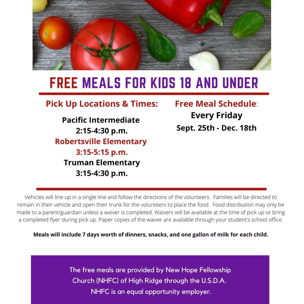 Free Meals for Kids Under 18